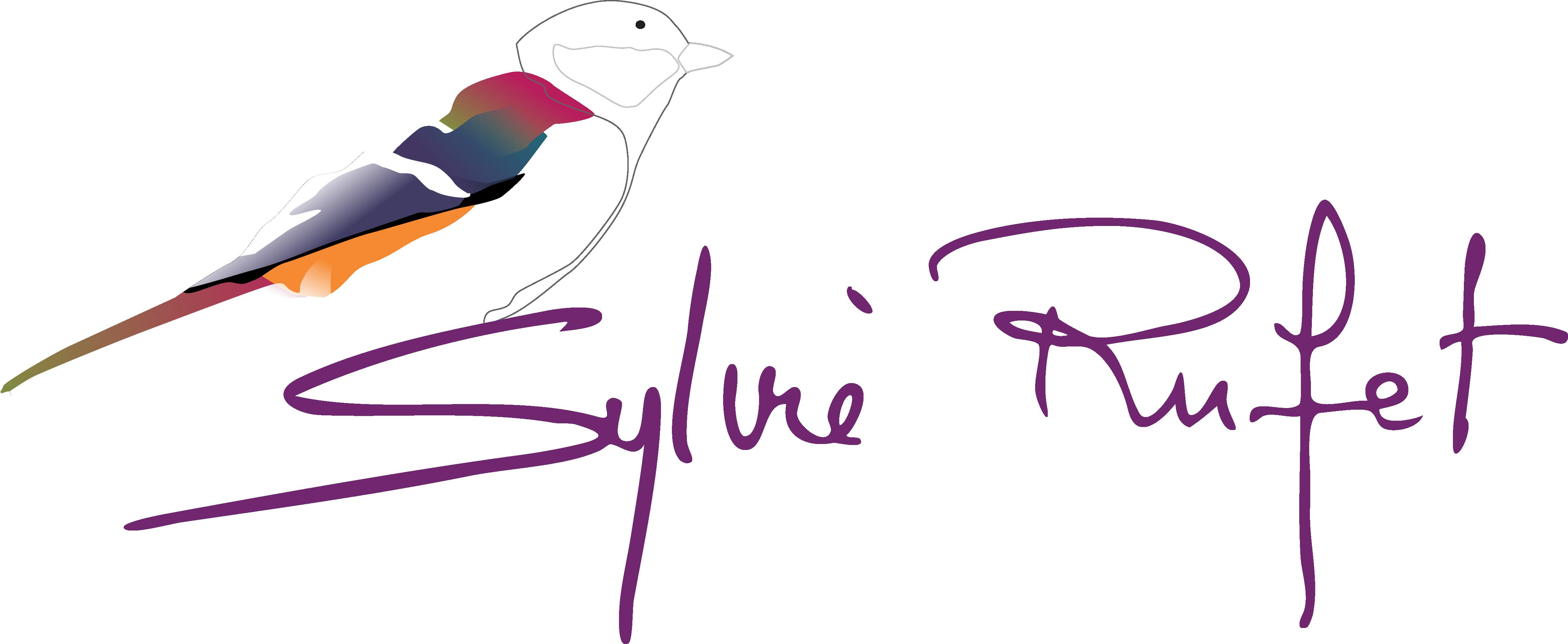 Oiseau stylisé Logo Sylvie Rufet